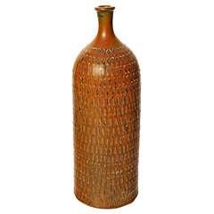 Tall Bottle-Form Vase by Stig Lindberg