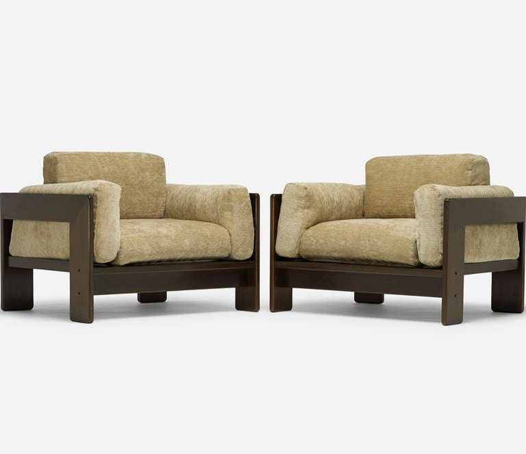 "Pair of ""Bastiano"" Chairs by Afra and Tobia Scarpa 2"