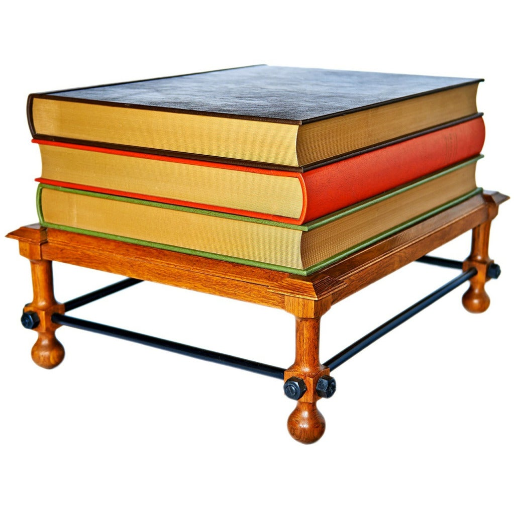 "Book Furniture: ""Stacked Books"" Table By John Dickinson At 1stdibs"