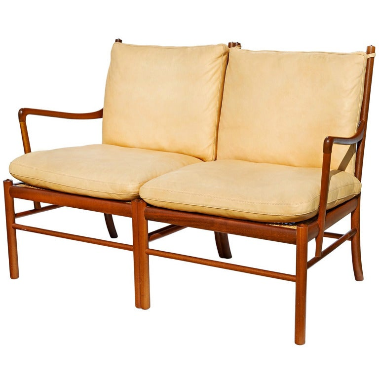 """Colonial"" Settee by Ole Wanscher 1"