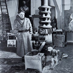Portrait of Picasso in His Studio by Richard Ham