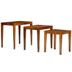 Set of Nesting Tables in Rosewood by Ole Wanscher