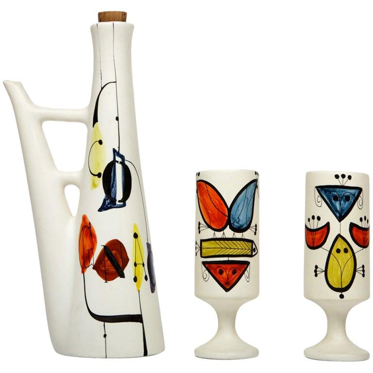 Cognac Set by Roger Capron For Sale