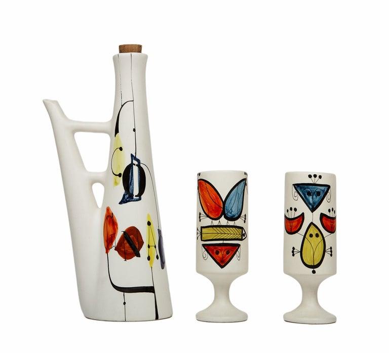 Earthenware Cognac Set by Roger Capron For Sale