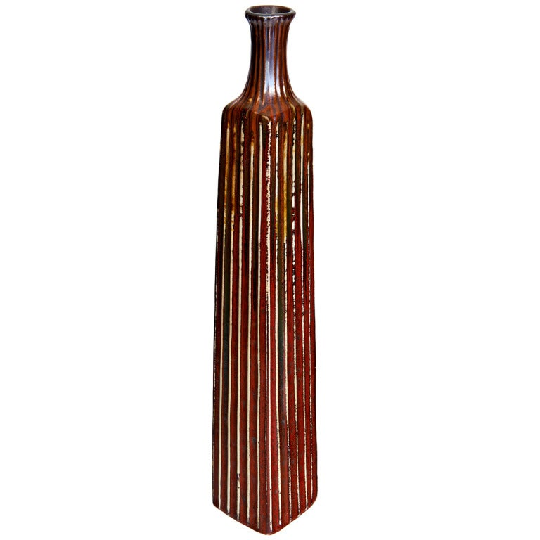 Tall, Dark and Handsome Italian Vase 1