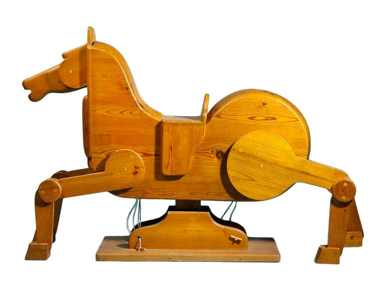 A wonderful modernist interpretation of the Classic children's riding toy. The artisan who made it is unknown, but it was originally sold at Den Permanente (