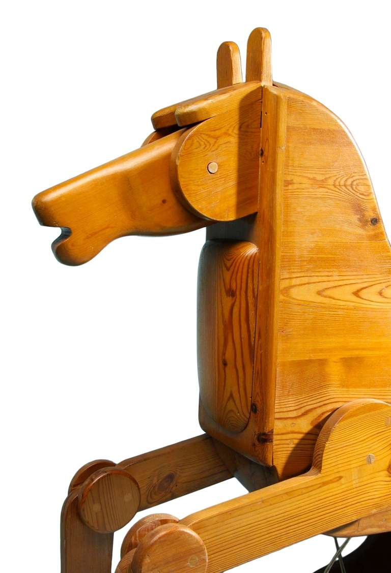 Scandinavian Modern Modernist Rocking Horse from Denmark For Sale