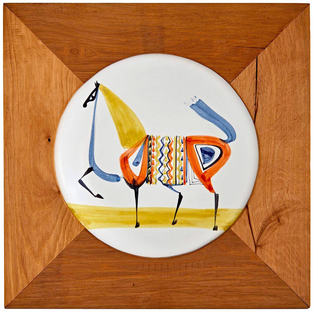 Modern Plate by Roger Capron For Sale