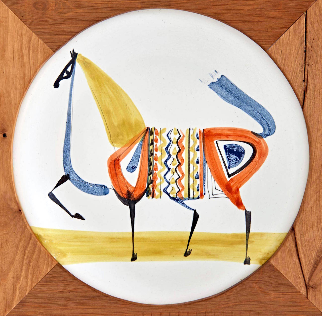 Glazed Plate by Roger Capron For Sale
