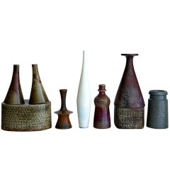 Six Vases by Stig Lindberg
