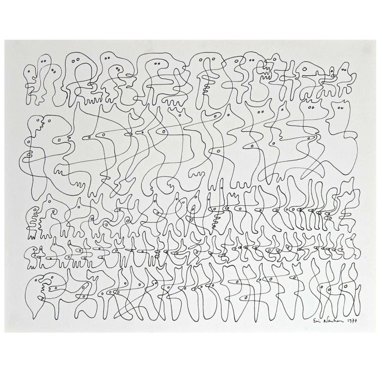 Drawing by Ervin Neuhaus For Sale
