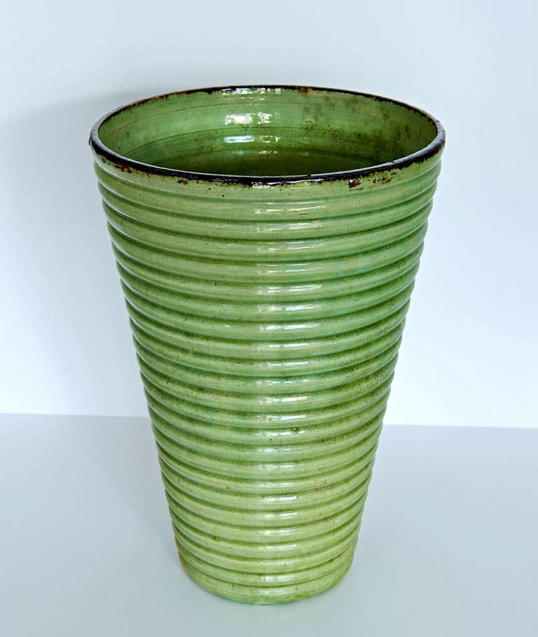 French Provençal Art Deco Vase For Sale