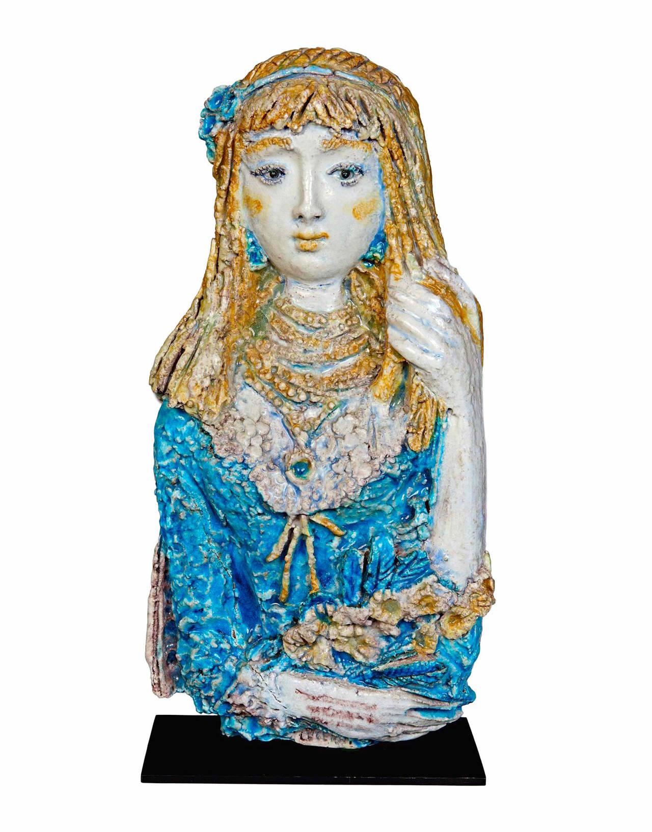 Ceramic Sculpture by Ugo Lucerni For Sale 2