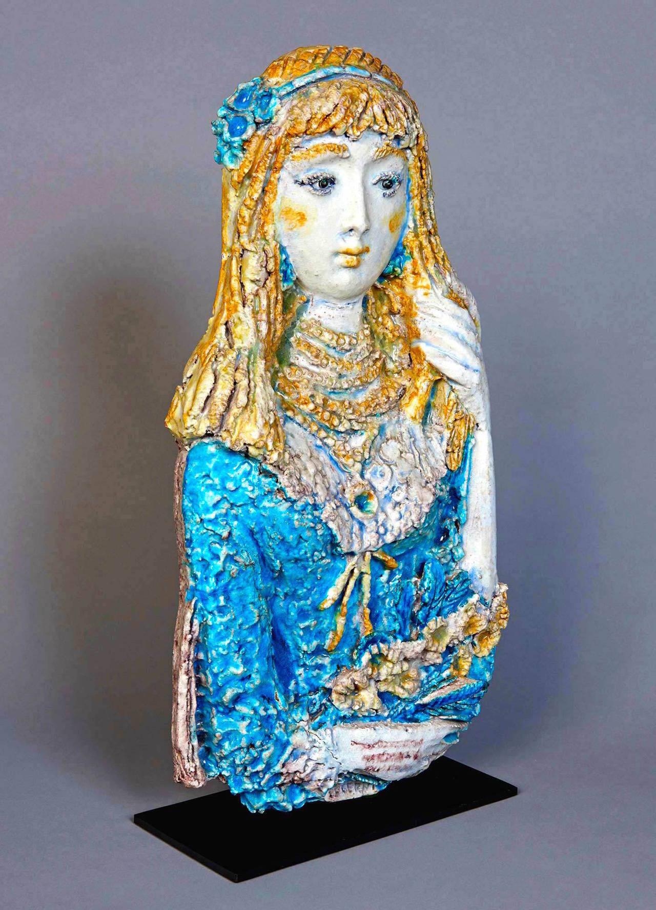 Italian Ceramic Sculpture by Ugo Lucerni For Sale