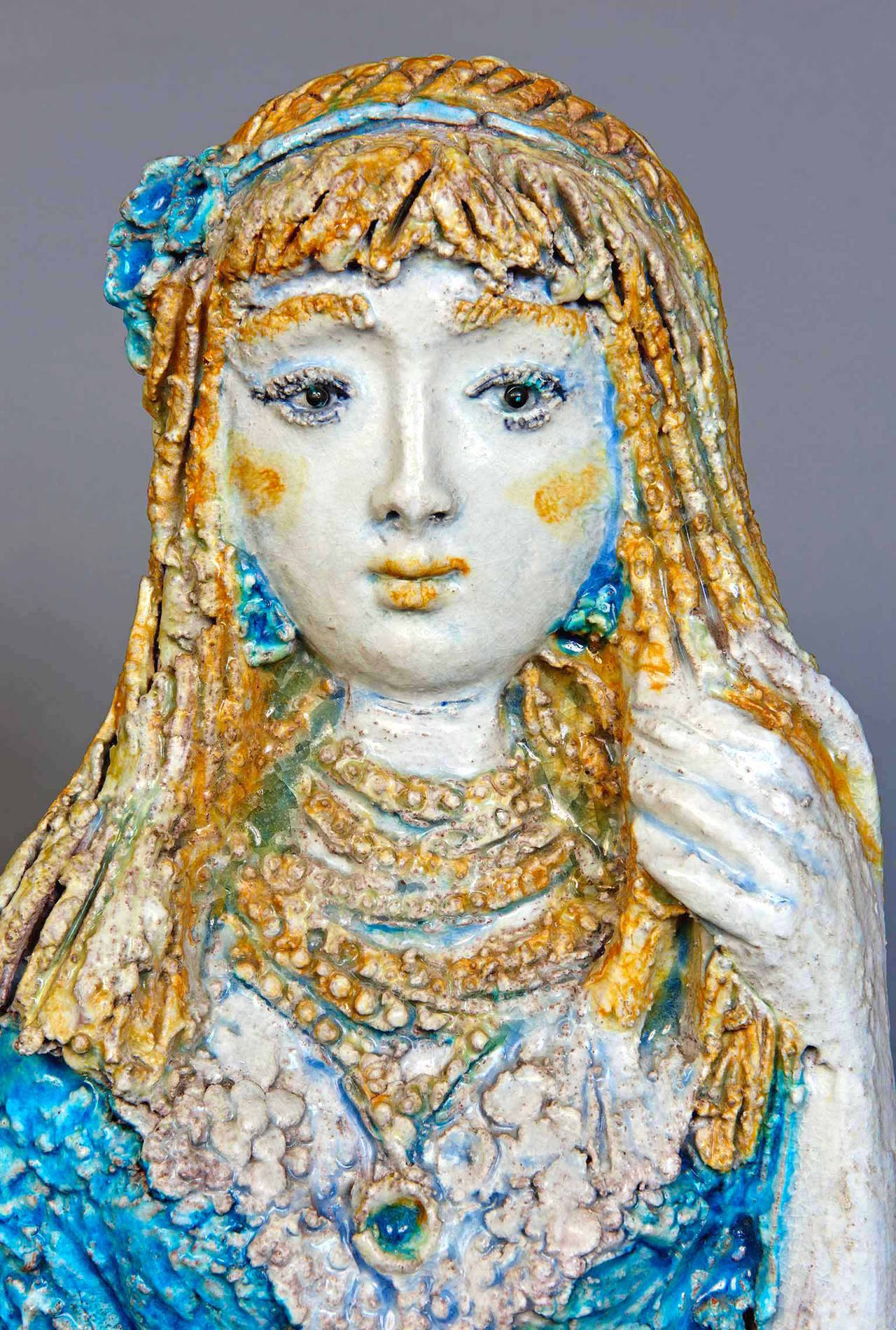 Modern Ceramic Sculpture by Ugo Lucerni For Sale