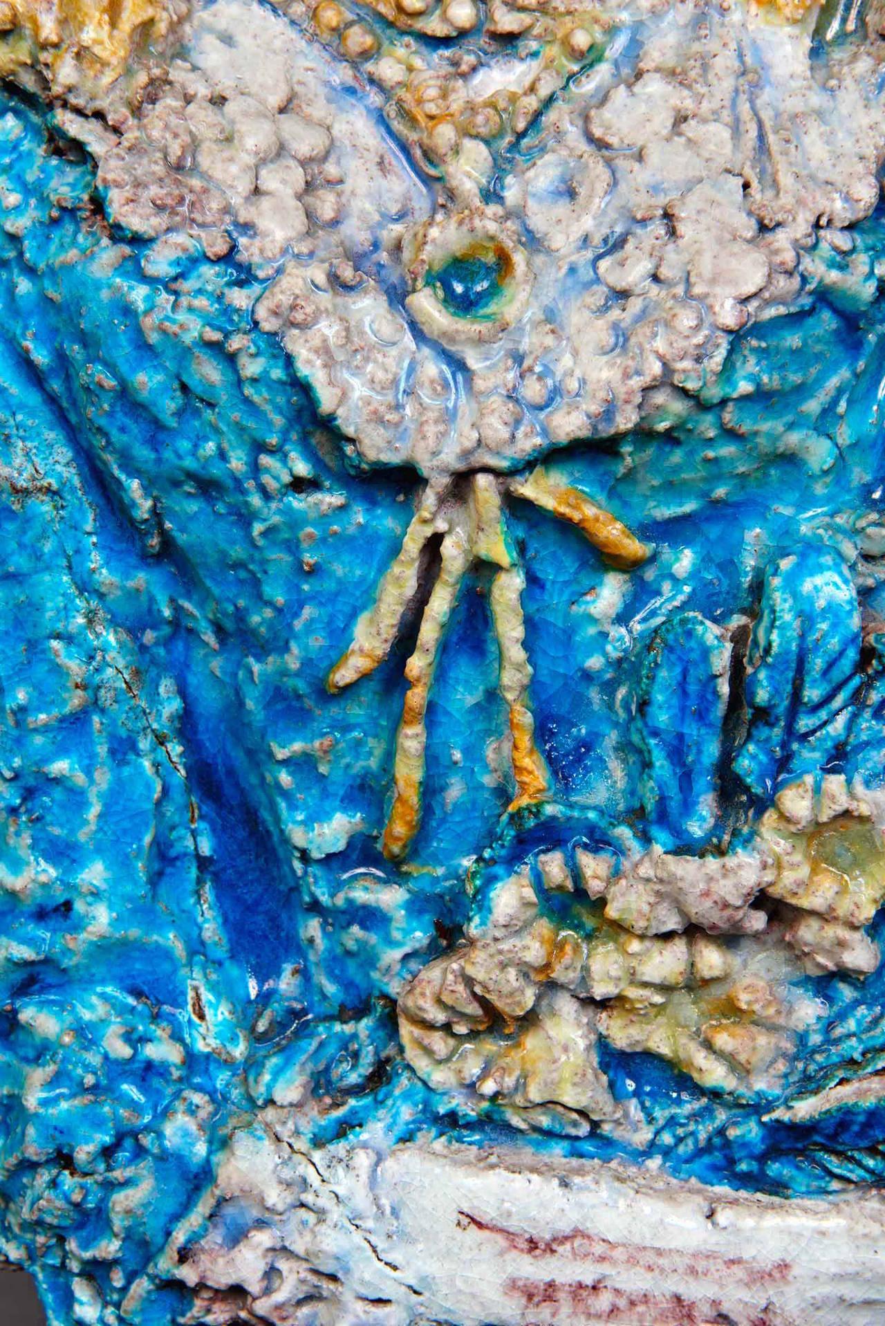 Earthenware Ceramic Sculpture by Ugo Lucerni For Sale