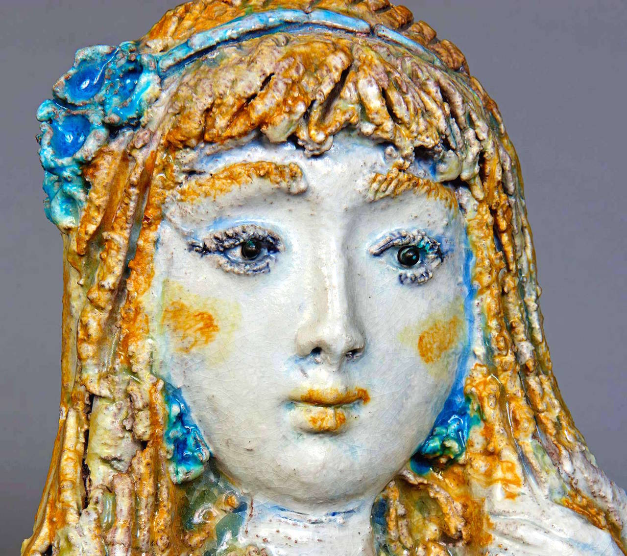 Ceramic Sculpture by Ugo Lucerni In Excellent Condition For Sale In Los Angeles, CA