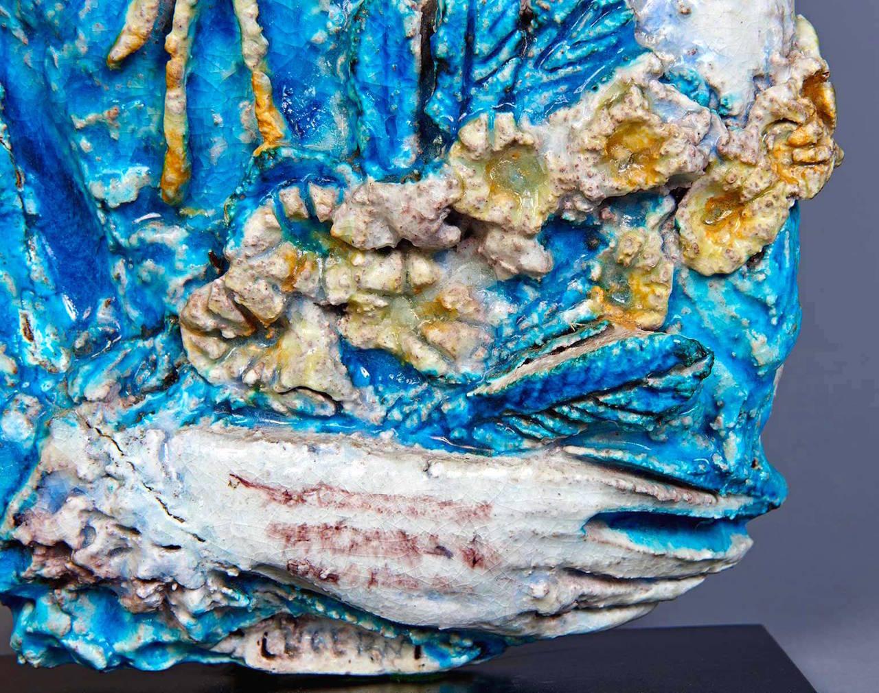 Mid-20th Century Ceramic Sculpture by Ugo Lucerni For Sale