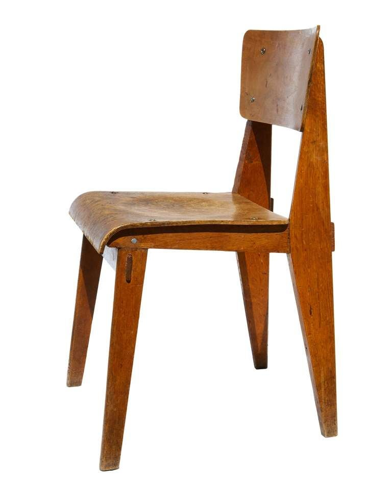 Chaise en bois by jean prouv at 1stdibs - Chaise de jean prouve ...