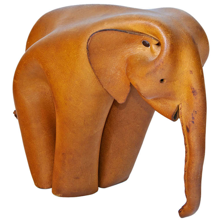 Leather Elephant by Deru For Sale
