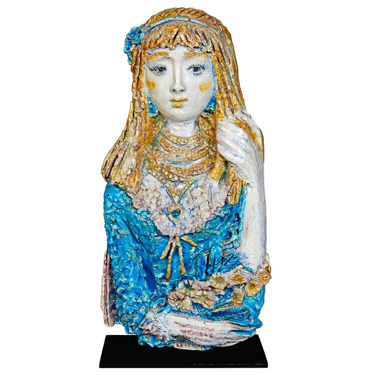 Ceramic Sculpture by Ugo Lucerni For Sale