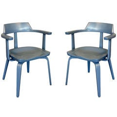 "Pair of ""W199"" Armchairs by Walter Gropius"