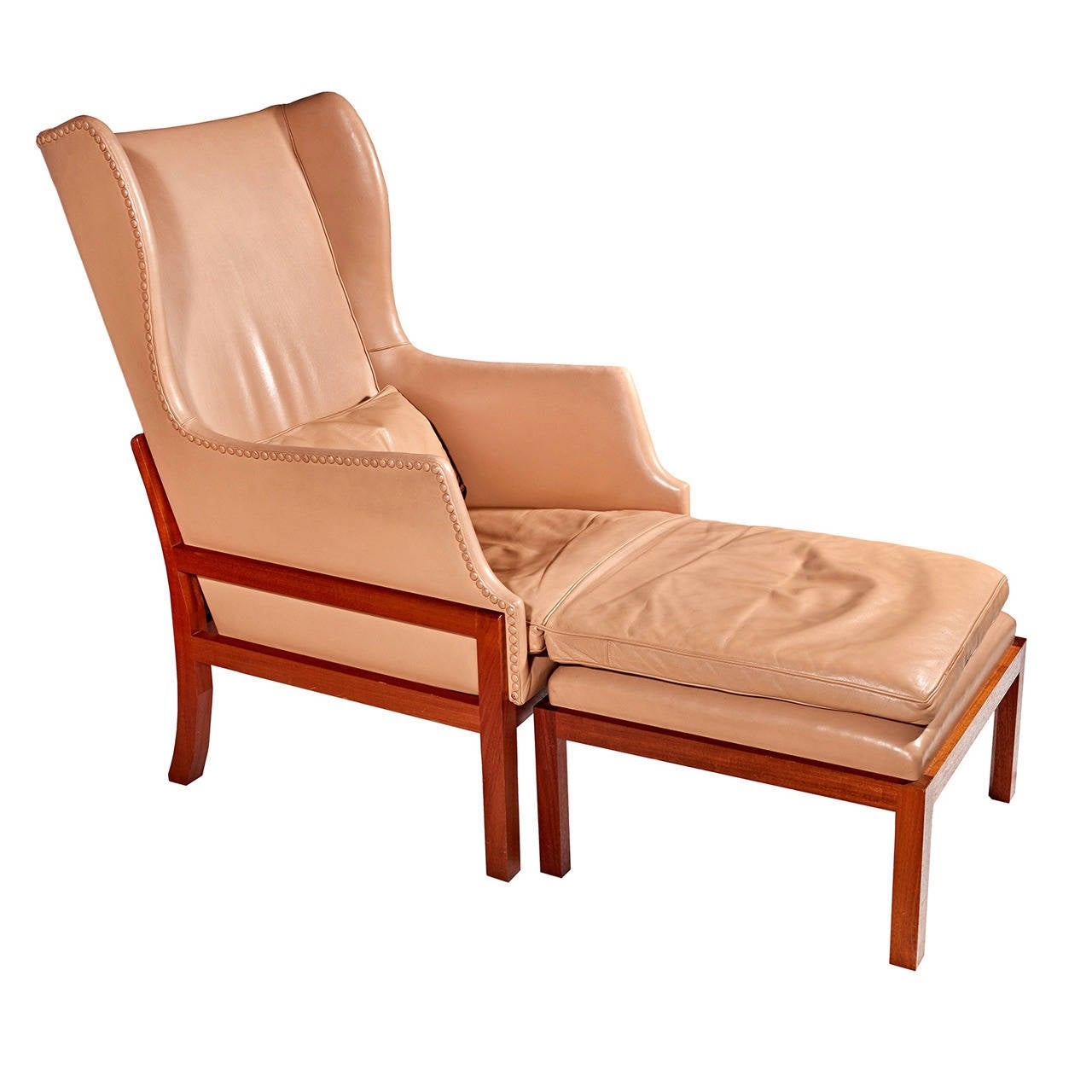 Wing chair with ottoman - Wingback Chair And Ottoman By Mogens Koch 1