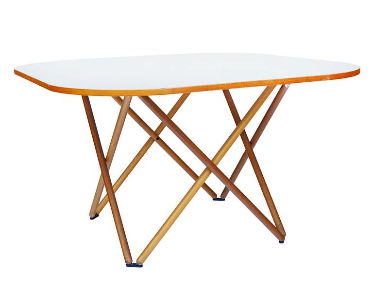 Italian Rare Dining Table by Vico Magistretti For Sale