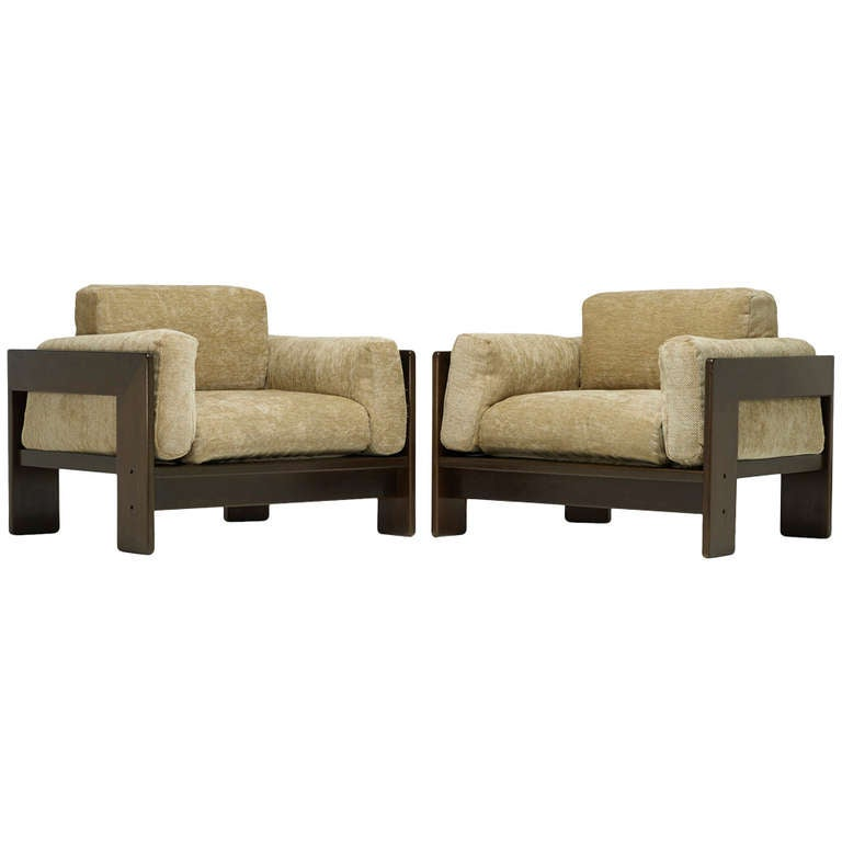 """Pair of """"Bastiano"""" Chairs by Afra and Tobia Scarpa"""