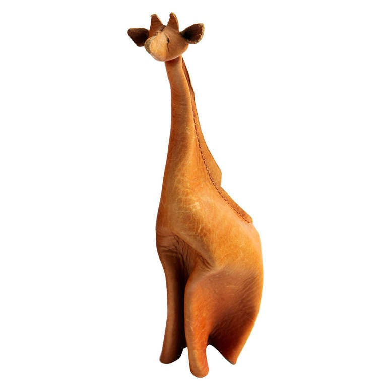 Leather Giraffe by Deru For Sale
