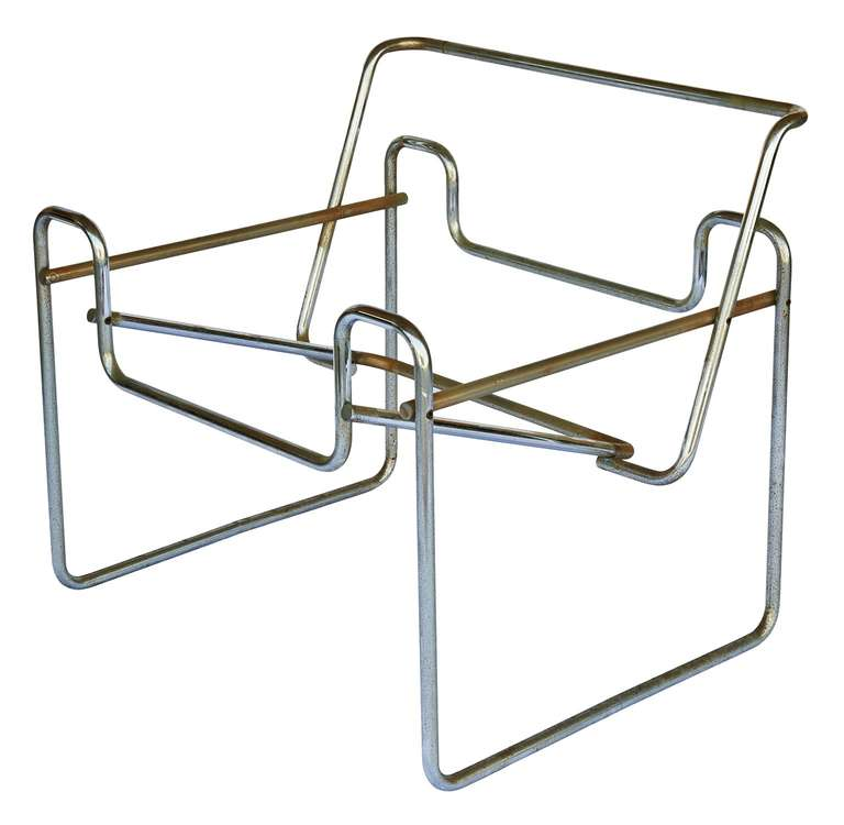 Vintage wassily chair by marcel breuer for knoll international for - Pair Of Marcel Breuer For Knoll Quot Wassily Quot Chair Frames For