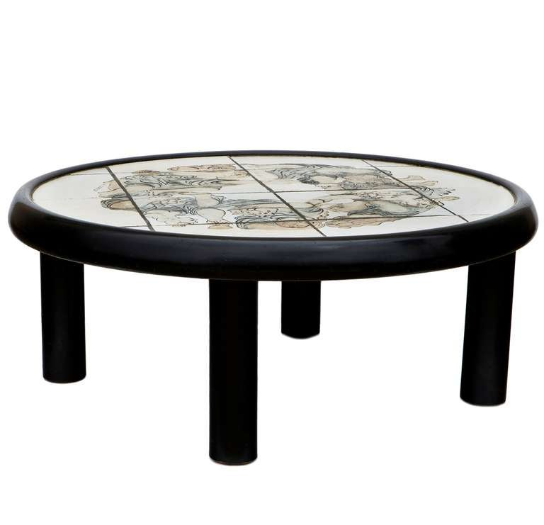Rare Coffee Table by Roger Capron For Sale at 1stdibs