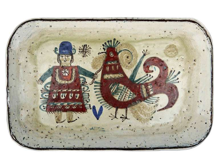 Wall-Plaque / Platter by Gustave Reynaud - Le Mûrier In Excellent Condition For Sale In Los Angeles, CA