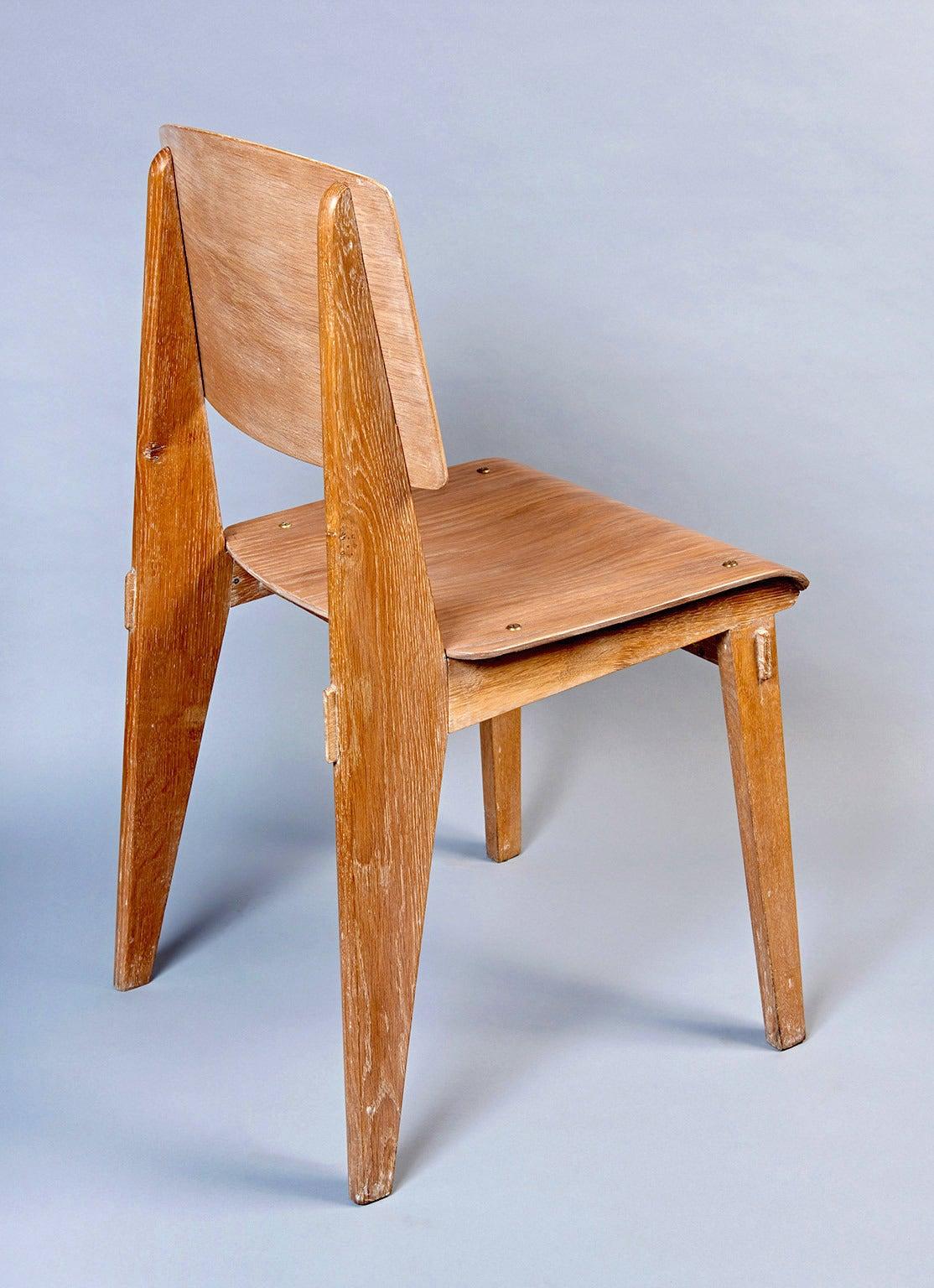 "Standard Chair ""Tout Bois"" by Jean Prouvé 8"