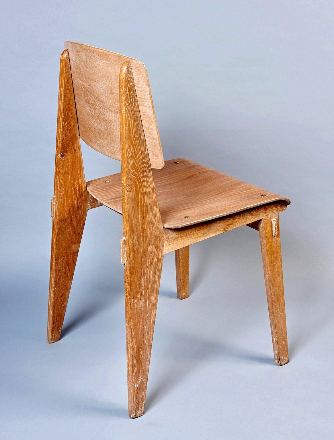 "Standard Chair ""Tout Bois"" by Jean Prouvé 5"