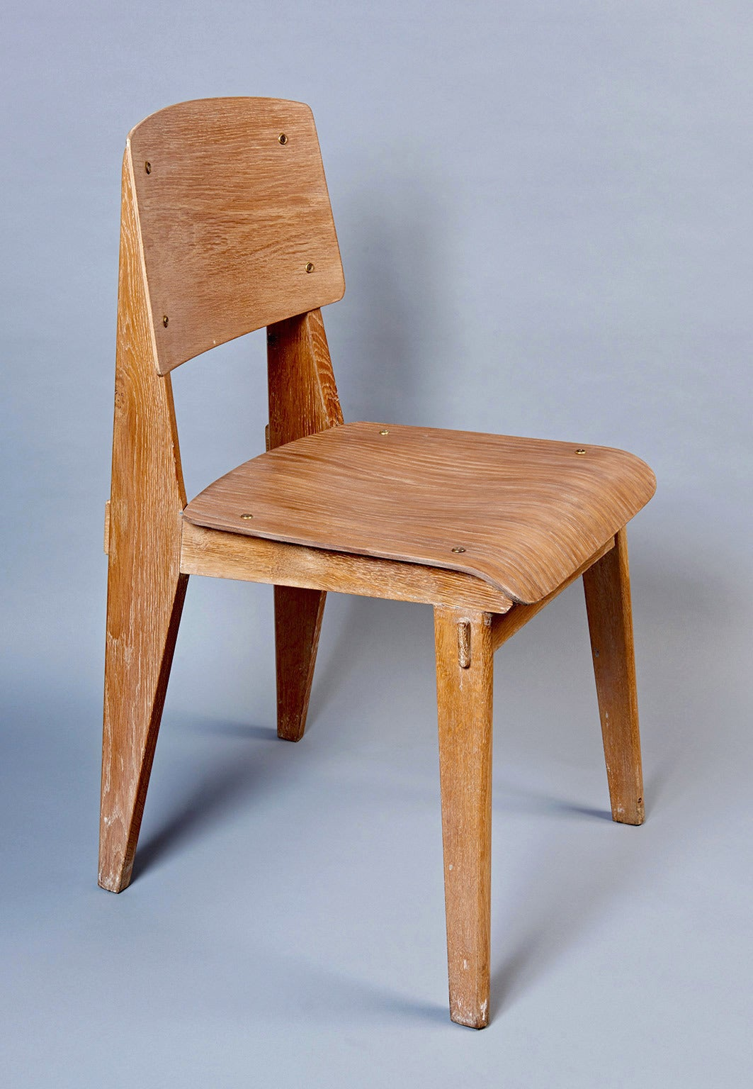 "Standard Chair ""Tout Bois"" by Jean Prouvé 4"