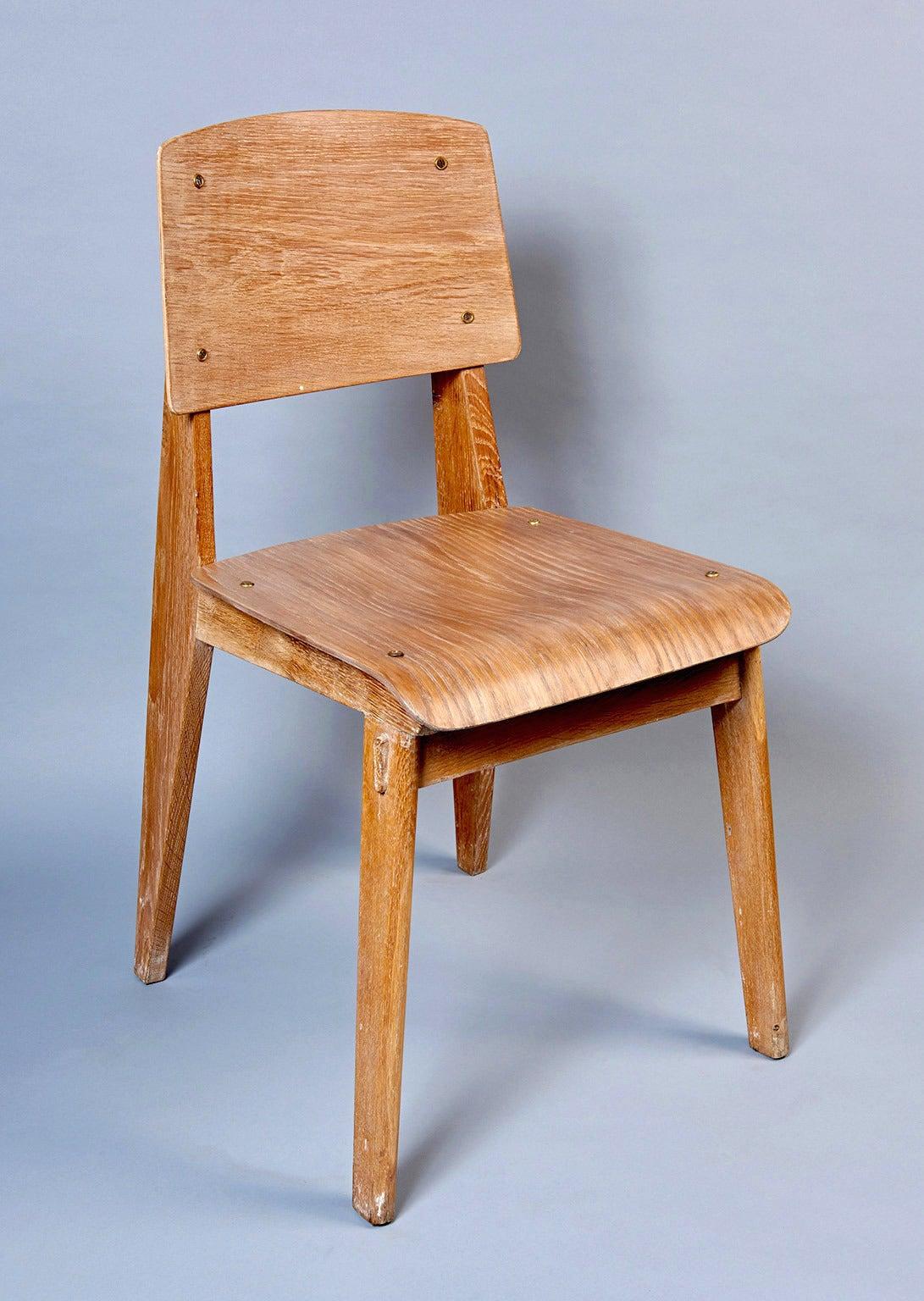 "Standard Chair ""Tout Bois"" by Jean Prouvé 6"