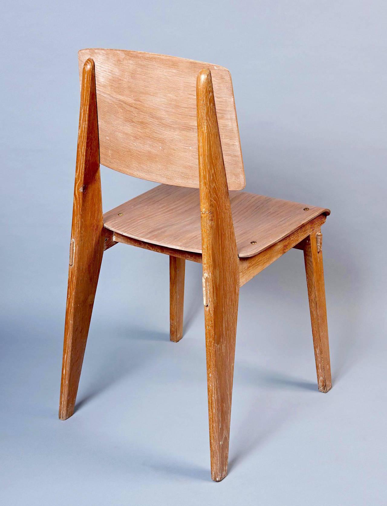 "Standard Chair ""Tout Bois"" by Jean Prouvé 7"