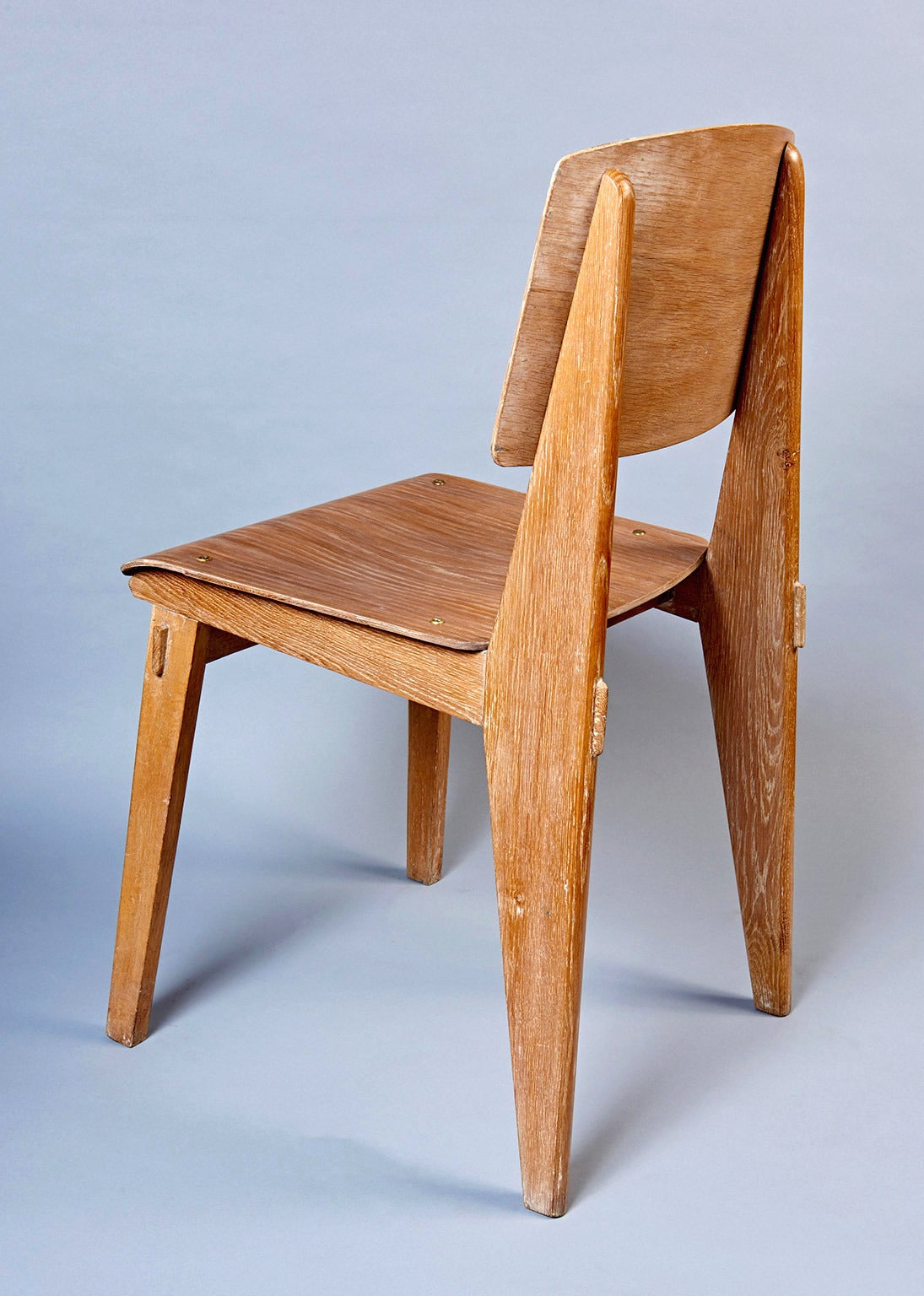 """Populaire Standard Chair """"Tout Bois"""" by Jean Prouvé at 1stdibs HY27"""