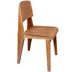 "Standard Chair ""Tout Bois"" by Jean Prouvé"