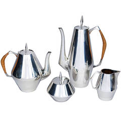 Sterling Silver Coffee and Tea Service by Gio Ponti and John Axel Prip
