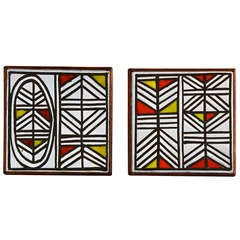 Pair of Ceramic Trivets by Roger Capron