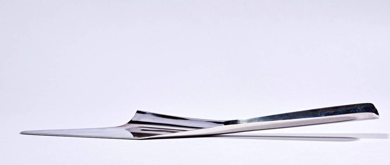 Silver Plated Cake Knife by Lino Sabattini For Sale 2