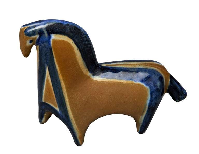 Mid-20th Century Horse Figure by Lisa Larson For Sale