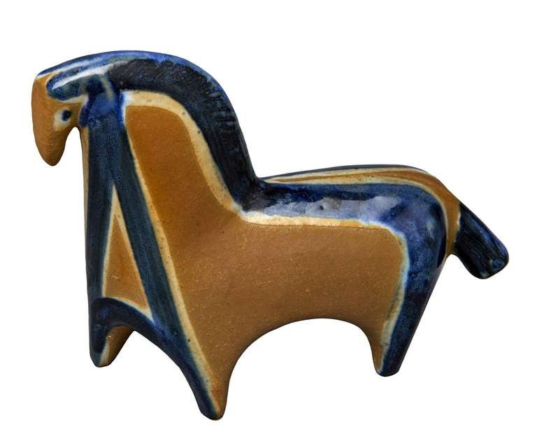 Swedish Horse Figure by Lisa Larson For Sale