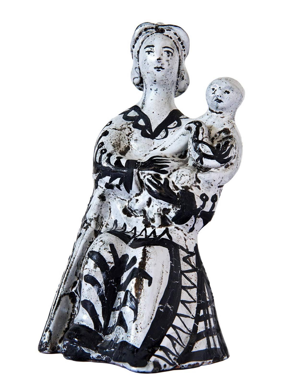 Modern Ceramic Sculpture by Roger Capron For Sale