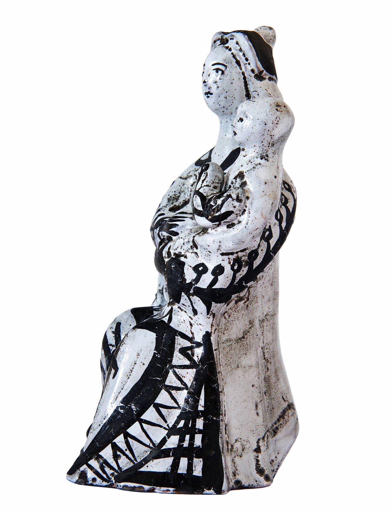 Ceramic Sculpture by Roger Capron In Excellent Condition For Sale In Los Angeles, CA
