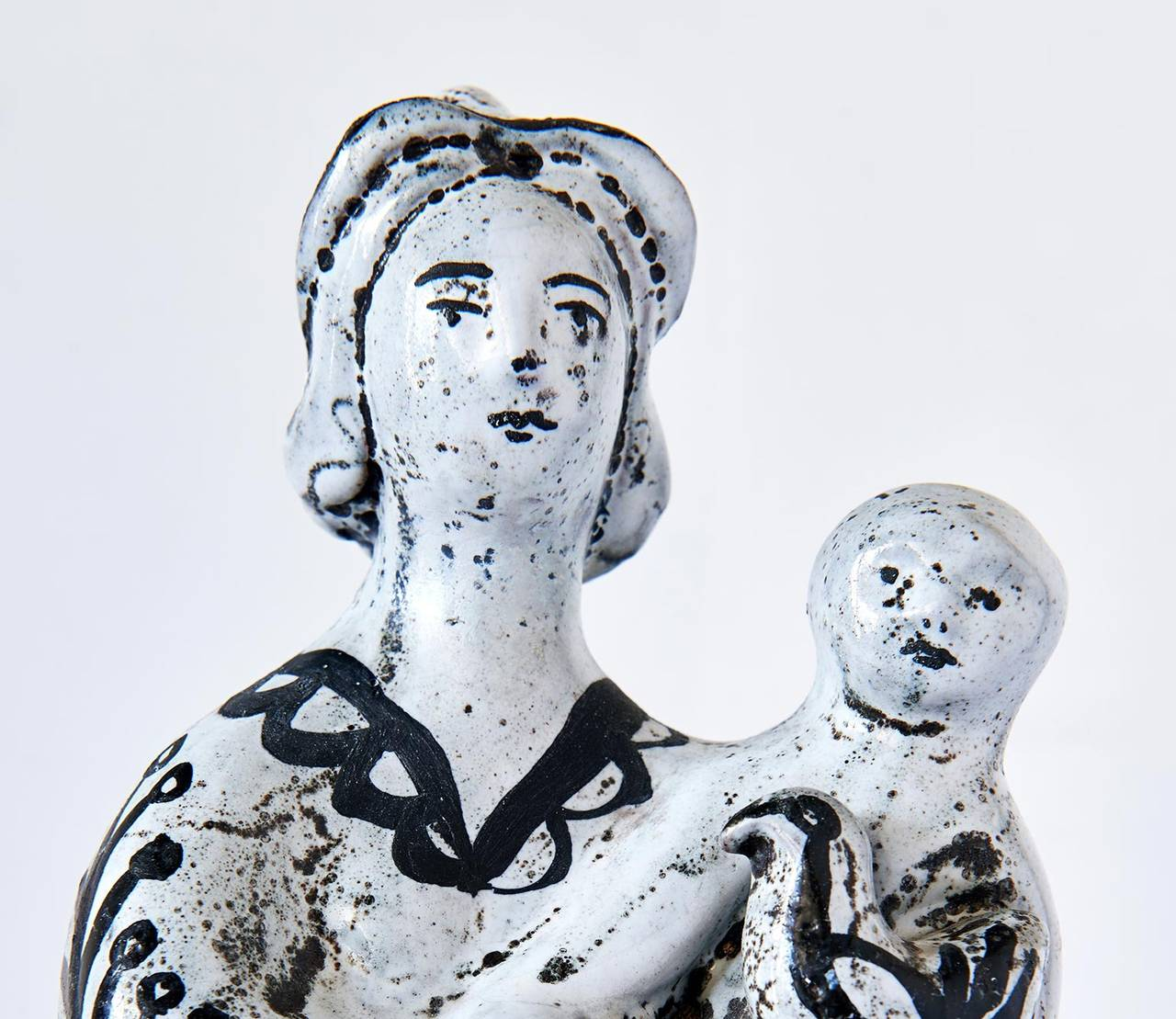 Glazed Ceramic Sculpture by Roger Capron For Sale