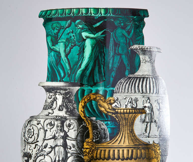 Mid-Century Modern Trompe L'oeil Umbrella Stand by Piero Fornasetti For Sale