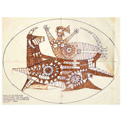"""""""Europa Riding the Bull,"""" Two Drawings by Jean Derval"""
